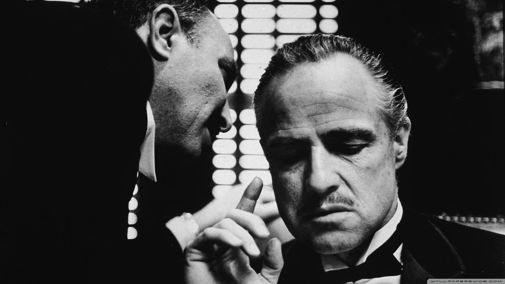 Marlon Brando in The Godfather. It's suggested The Godfather Cocktail Recipe was a favourite of Brando's