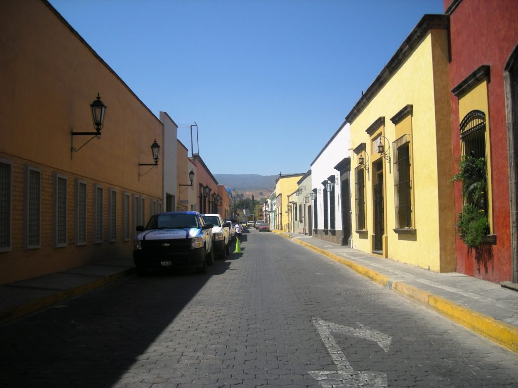 A street in Tequila, Jalisco in Mexico, thought to be the home of the Paloma Cocktail Recipe