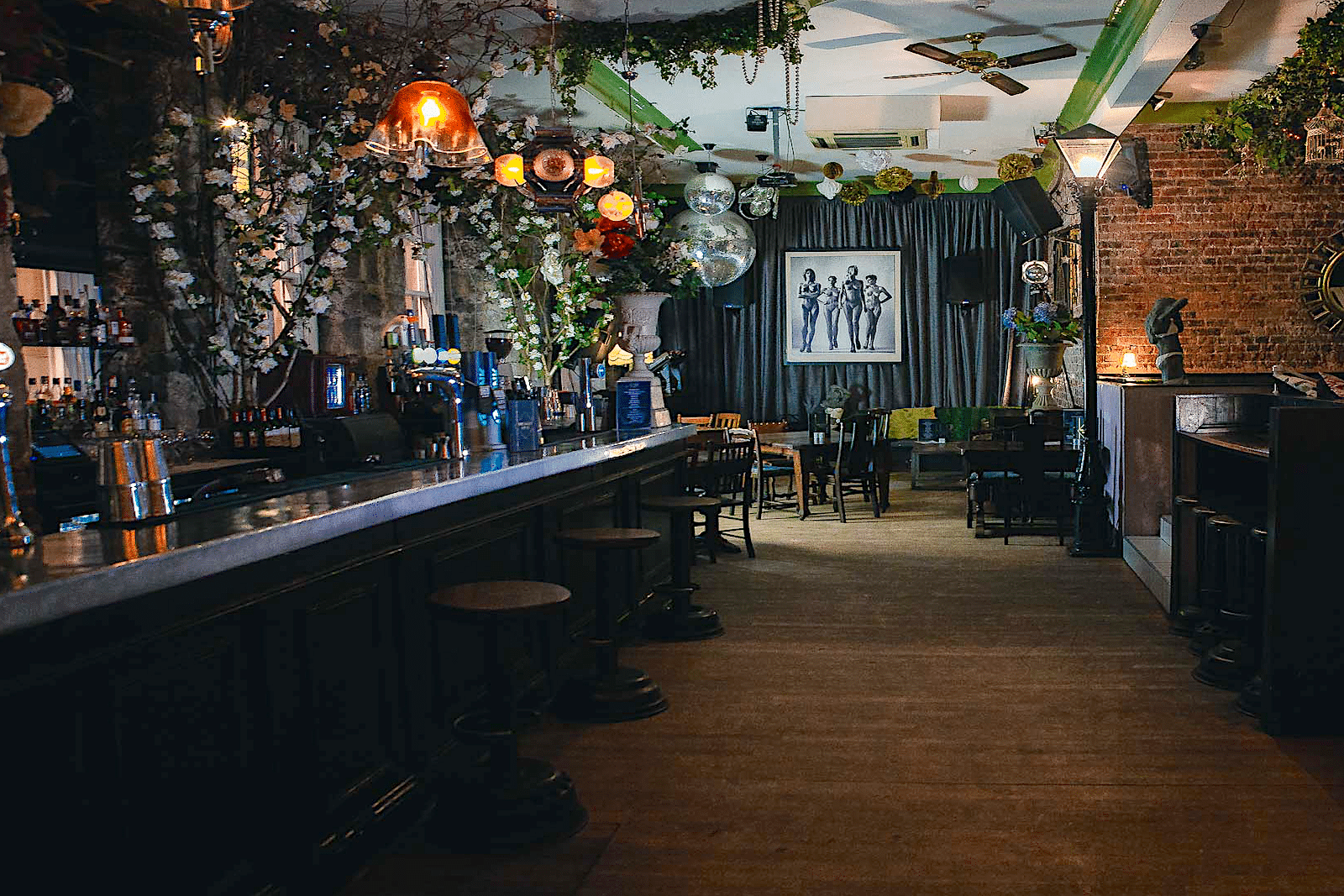 The interior of No28 Cocktail Bar in Newcastle