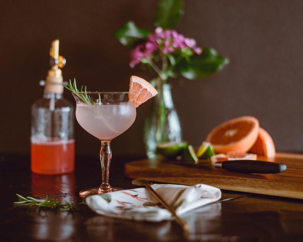 Low Calorie Cocktails on a table