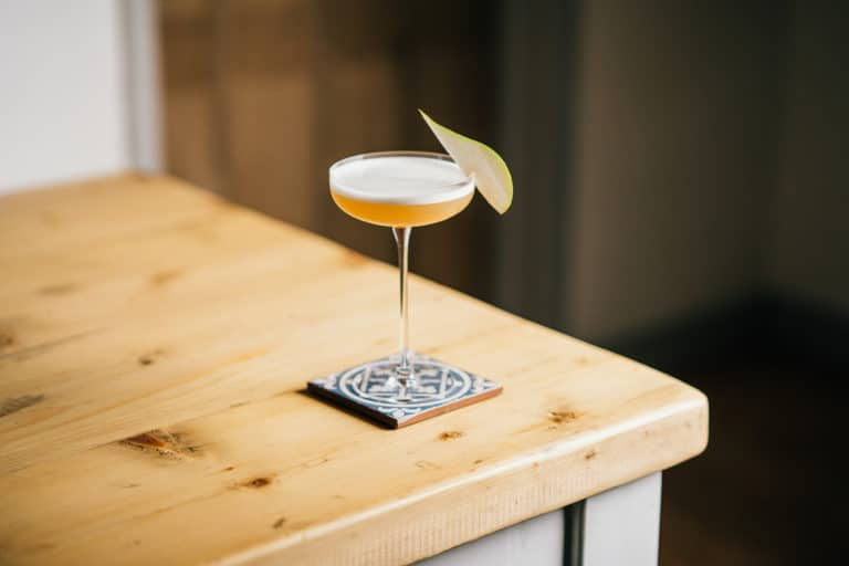Pear Sour Recipe - The Pear Sour Cocktail on a table